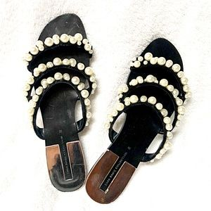 ZARA BASIC COLLECTION Pearl Flat Sandals